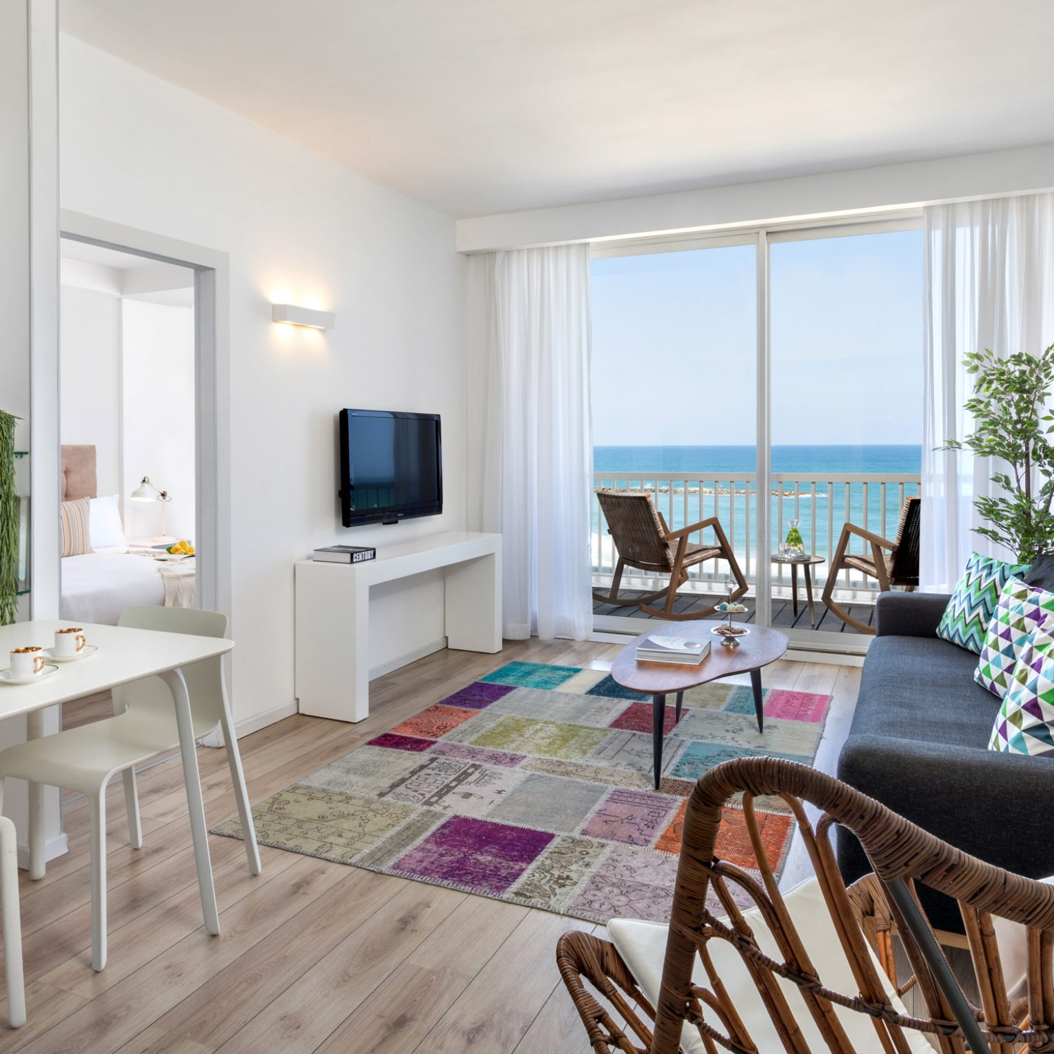 חדר למשפחה במלון בוטיק בתל אביב